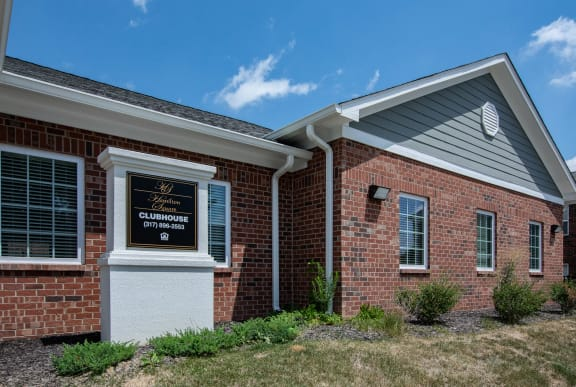 Leasing Office and Clubhouse at Hamilton Square Apartments, Westfield, IN, 46074
