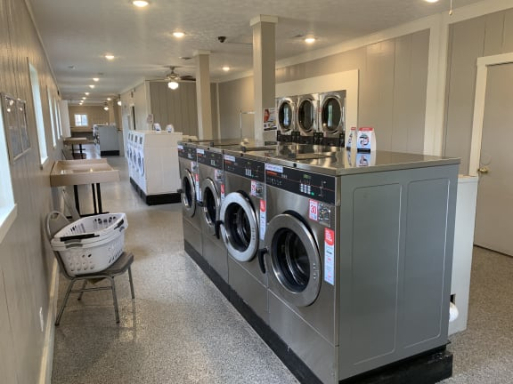 Modern Laundry Room at Pickwick Farms Apartments, Indianapolis, Indiana