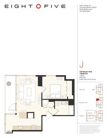 Floor Plan  A1 Floor Plan at Eight O Five, Chicago, Illinois