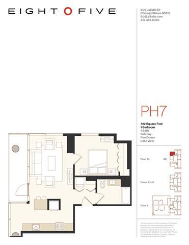 Floor Plan  A1PH Floor Plan at Eight O Five, Chicago, 60610