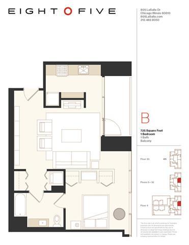 Floor Plan  A2 Floor Plan at Eight O Five, Illinois