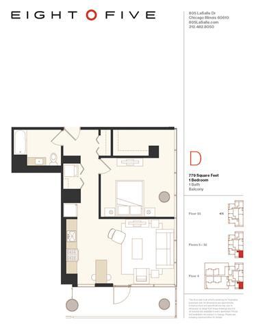 Floor Plan  A4W Floor Plan at Eight O Five, Chicago, Illinois