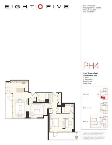 Floor Plan  A7PH Floor Plan at Eight O Five, Illinois