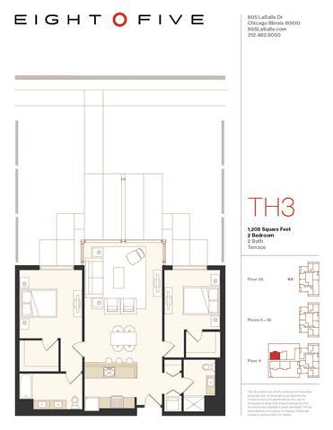Floor Plan  D3TE Floor Plan at Eight O Five, Illinois, 60610