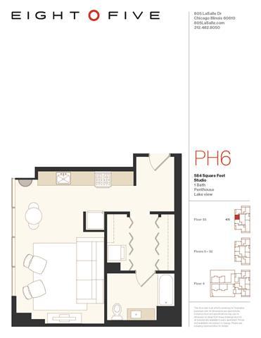 Floor Plan  Studio2PH Floor Plan at Eight O Five, Chicago