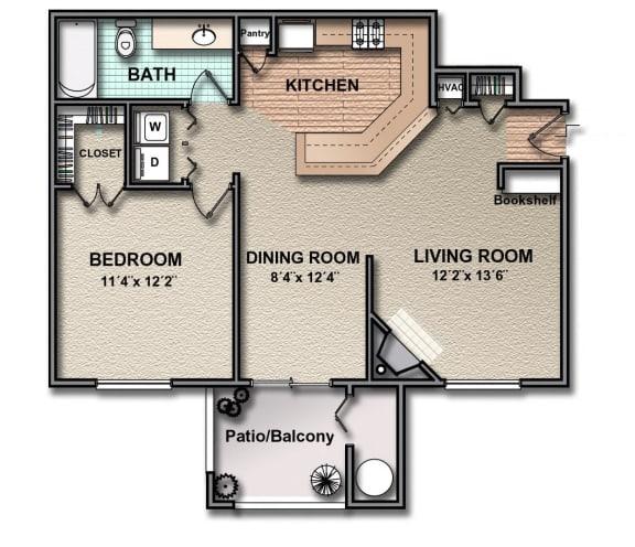 Floor Plan  A2_south_austin_rentals