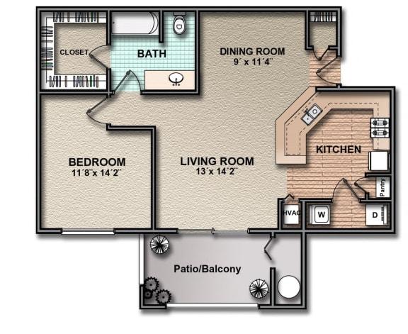 Floor Plan  A3_south_austin_rentals