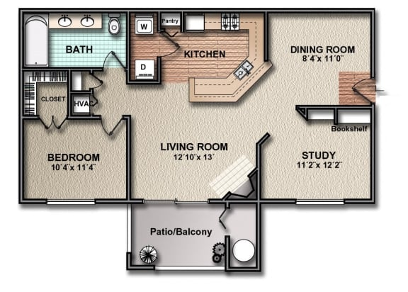 Floor Plan  A4_south_austin_rentals