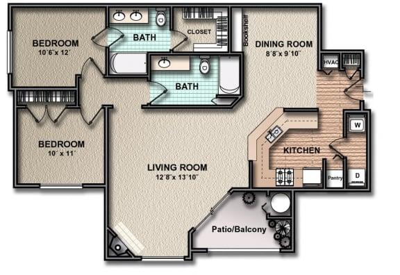 Floor Plan  B2_south_austin_rentals