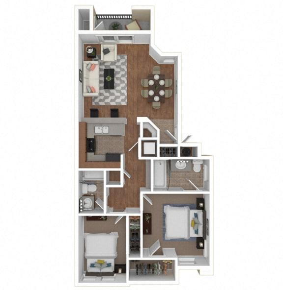Floor Plan  Zoom of The Prima floor plan at Legends at Rancho Belago, Moreno Valley, CA
