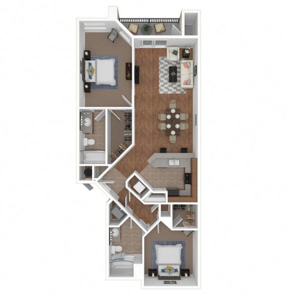 Floor Plan  Zoom of The Serena floor plan at Legends at Rancho Belago, CA, 92553