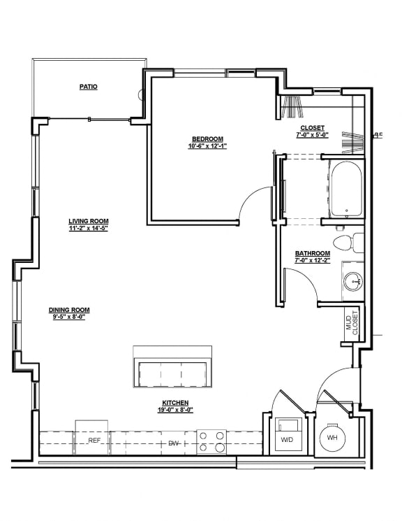 Drake Floor plan at Cycle Apartments, Ft. Collins, CO