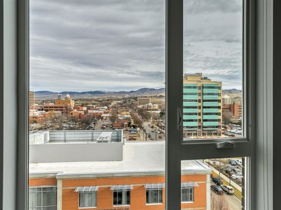 City View From Window at The Fowler, Boise, ID