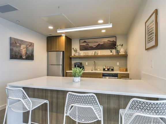 Fully Furnished Kitchen at The Fowler, Boise, ID