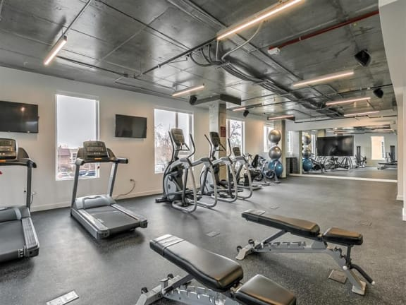 Fitness Center With Updated Equipment at The Fowler, Boise
