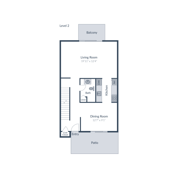 5 Bedroom 2.5 Bath Floor Plan at The Brook at Columbia, Maryland