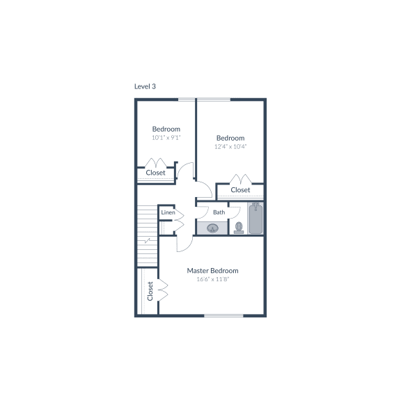 5 Bed 2.5 Bath Floor Plan at The Brook at Columbia, Columbia, 21044