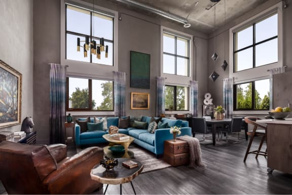 Lofts with High Ceilings, Extra Large Windows at The Mansfield at Miracle Mile, Los Angeles, California