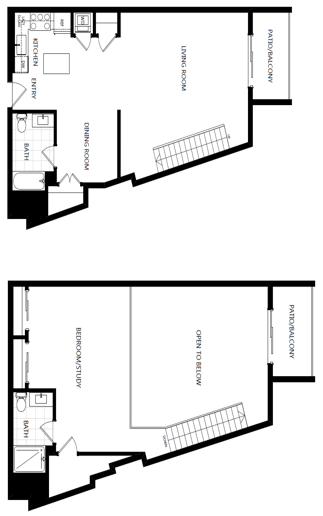 unit 219_1 bedroom loft at The Mansfield at Miracle Mile, Los Angeles, CA