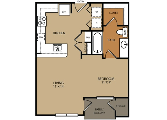 Floor Plan  Residences at Forty Two 25 Apartments for rent in Phoenix, AZ  Floor plan
