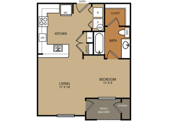 Residences at Forty Two 25 Apartments for rent in Phoenix, AZ - floor plan