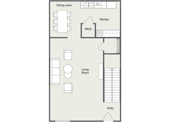 Floor Plan  1 Bedroom 1 Bath Loft