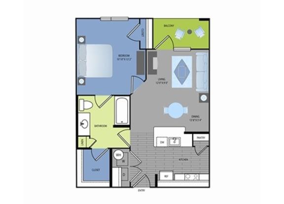 Floor Plan  Floor plan at The Encore Apartments, Plano, TX 75024