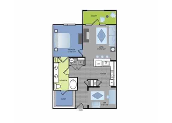 Floor Plan  Floor plan at The Encore Apartments, Plano,Texas