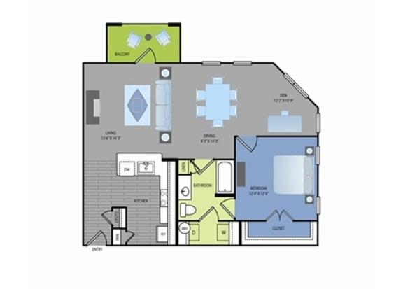 Floor Plan  Floor plan at The Encore Apartments, Plano