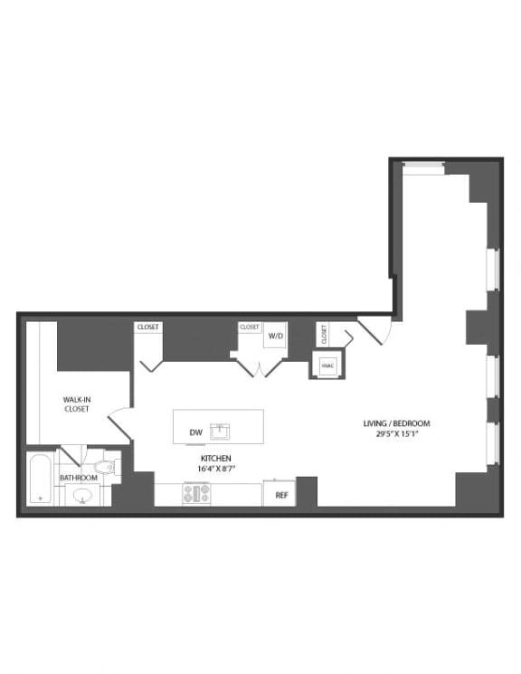 Floor Plan  Floor plan at The Republic, Philadelphia, 19103
