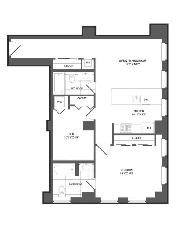 Floor Plan  Floor plan at The Republic, Philadelphia, PA