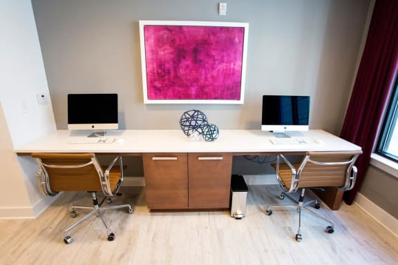 Work From Home Spaces at The Dartmouth North Hills Apartments, Raleigh, NC