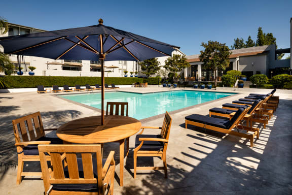 Relaxing Outdoor Pool at Warner Villa, Woodland Hills, CA