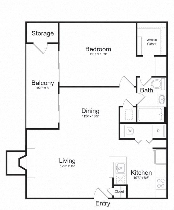 Floor Plan  Floor plan at Lakeside Mill, Owings Mill, MD