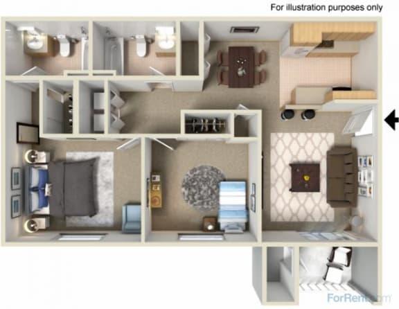 Floor Plan  Creekside Apartments