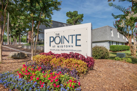 Property Signage at The Pointe at Midtown, Raleigh, NC, 27609