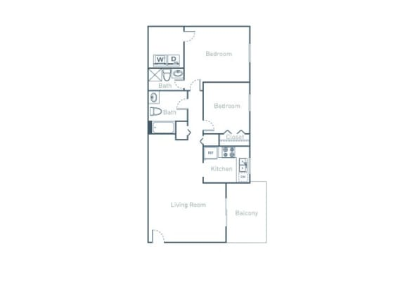 Floor Plan  B2 Floor Plan at The Pointe at Midtown, Raleigh, 27609