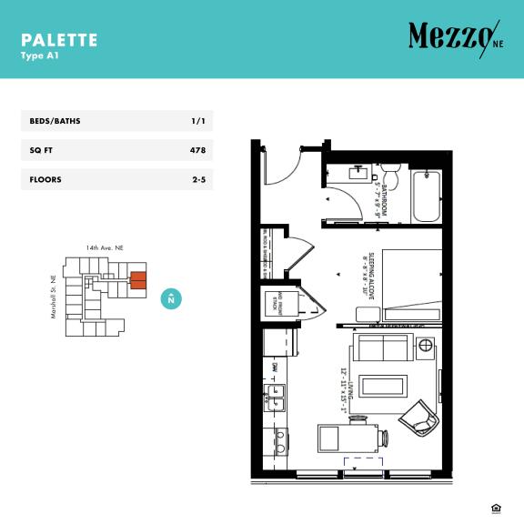 Floor Plan  Mezzo Apartments Northeast Minneapolis MN