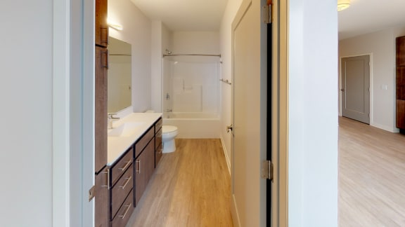 Bathroom in Nova 1 Bedroom at Mezzo Apartments NE Minneapolis