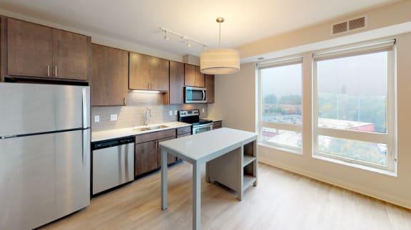 Kitchen in Nova 1 Bedroom at Mezzo Apartments NE Minneapolis