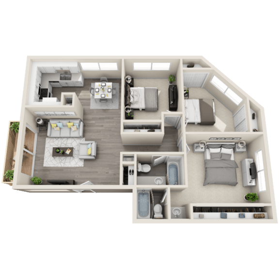Floor Plan  Floor plan at Ocean Breeze Villas, Huntington Beach, CA, 92647