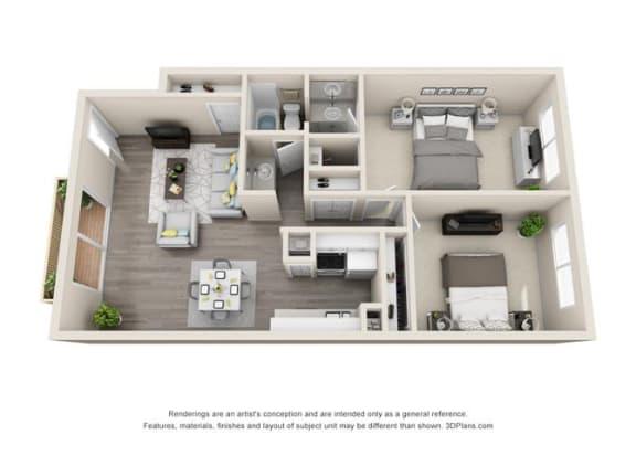 Floor Plan  Floor plan at Ocean Breeze Villas, California, 92647