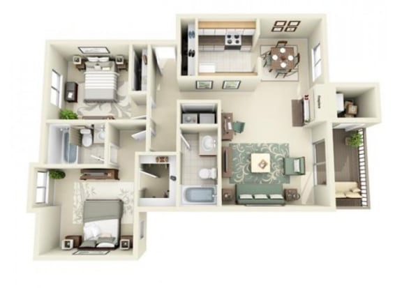 Floor Plan  The San Juan Floor Plan at StonePointe, University Place, WA, 98466