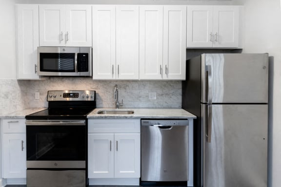 Full shot of kitchen at Connecticut Plaza Apartments, 20008