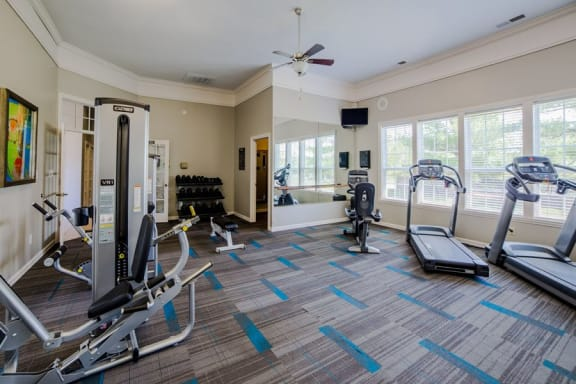 State of the art fitness center at The Reserve at Williams Glen Apartments, Zionsville, Indiana