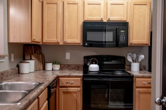 Modern appliances in kitchen at The Reserve at Williams Glen Apartments, Zionsville, IN