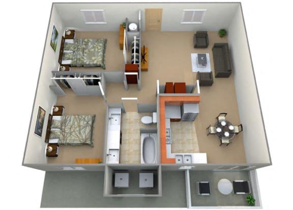Floor Plan  Manchester Floor Plan at Oxford Park Apartments, Fresno
