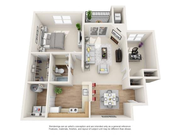 Floor Plan  Bayberry  2 bed 1 bath Floor Plan at Owings Park Apartments, Owings Mills, 21117
