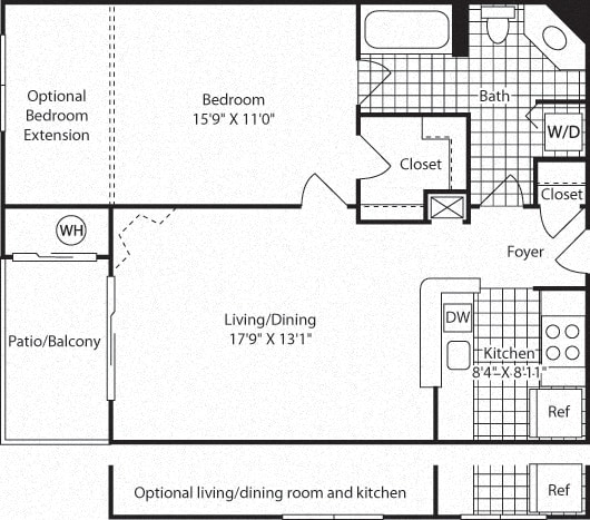 Floor Plan  A4A Floor Plan at Westerly at Worldgate, Herndon, 20170