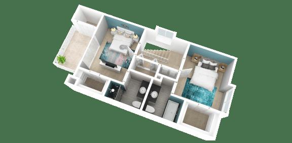2 bedroom apartment in Redlands ca